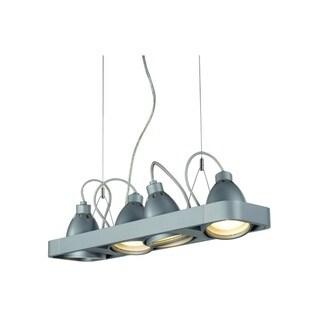SLV Lighting Aixlight R2 36-inch 4-Light Silver Pendant