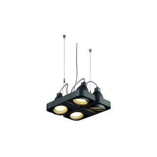 SLV Lighting Aixlight R2 Matte Black Aluminum Square 4-light Pendant