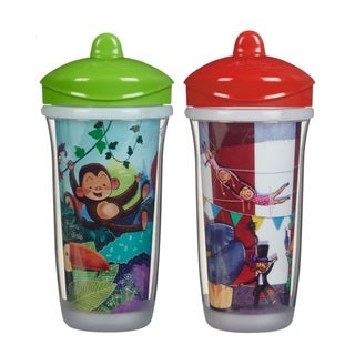 Playtex Green Jungle/Red Circus 9-ounce Pack of 2 Insulator Cups