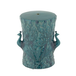Blue Ceramic Accent Table