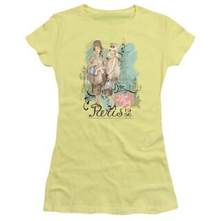 Lucy/Paris Dress Junior Sheer in Banana