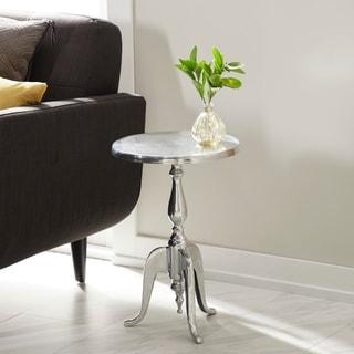 Metal Finish Aluminum Accent Table