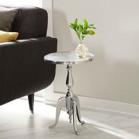 Metal Finish Aluminum Accent Table