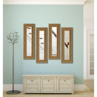 Rayne Opulent Gold Panel Mirrors