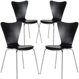 Edgemod Elgin Molded Wood Dining Side Chair (Set of 4)