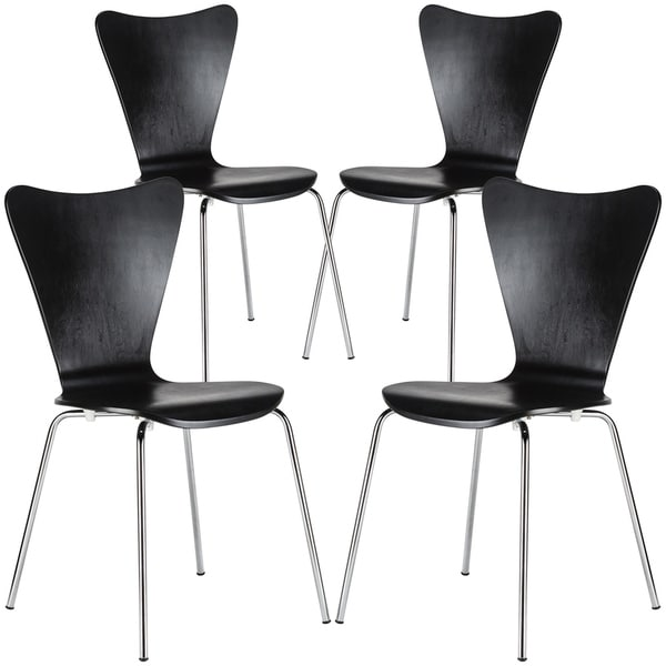 EdgeMod Elgin Molded Wood Dining Chair (Set of 4). Opens flyout.