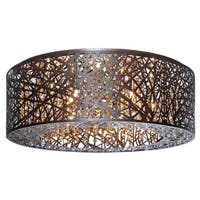 Maxim Lighting Inca Bronze Flush Mount Light