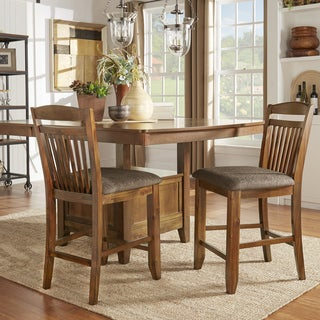 TRIBECCA HOME Octavia Warm Oak Counter Height Side Chairs (Set of 2)