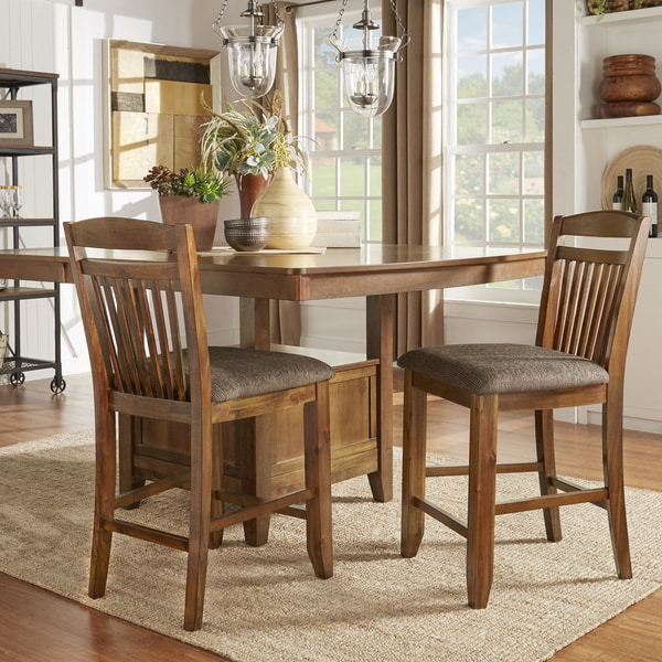 Shop Tribecca Home Decor Faux Alligator Print Dining Chair: Shop Octavia Warm Oak Counter Height Dining Chairs (Set Of