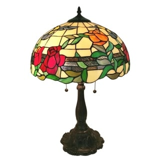 Amora Lighting Tiffany Style AM234TL16 24-inch Tall Floral Table Lamp