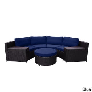 Cartagena Curved Modular Wicker Sofa With Cushions (3 options available)