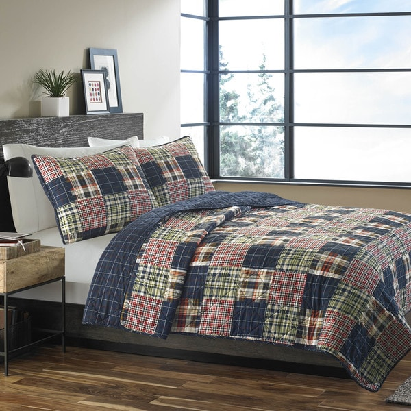 Eddie Bauer Madrona Cotton Quilt Set. Opens flyout.