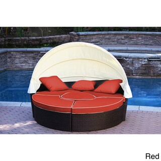 Jeco Resin Wicker All-weather 4-piece Sectional Daybed With Cushions (4 options available)