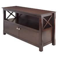 Porch & Den Lawrenceville Melwood  Wooden Cappuccino Finish Storage TV Stand
