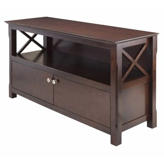 Porch & Den Melwood Wooden Cappuccino Finish Storage TV Stand