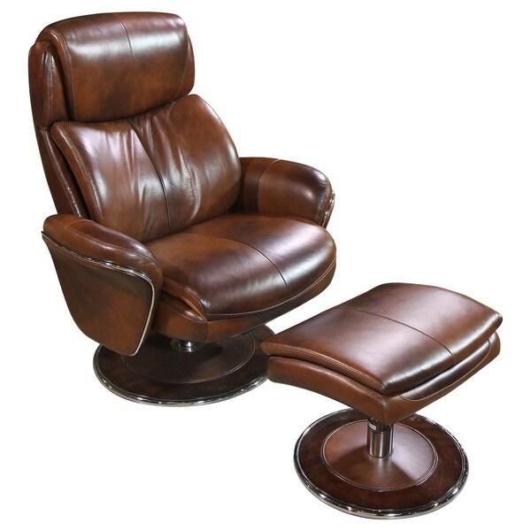 Cozzia Black/Brown Leather Ergonomic Chair and Ottoman  sc 1 st  Overstock.com & Shop Cozzia Black/Brown Leather Ergonomic Chair and Ottoman - Free ...