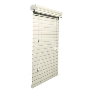 Alabaster 2-inch Faux-wood Blind 9 to 95-inch wide