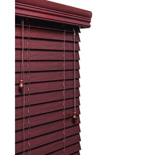 Mahogany 2-inch Faux Wood Grain Blind 11 to 72-inch wide