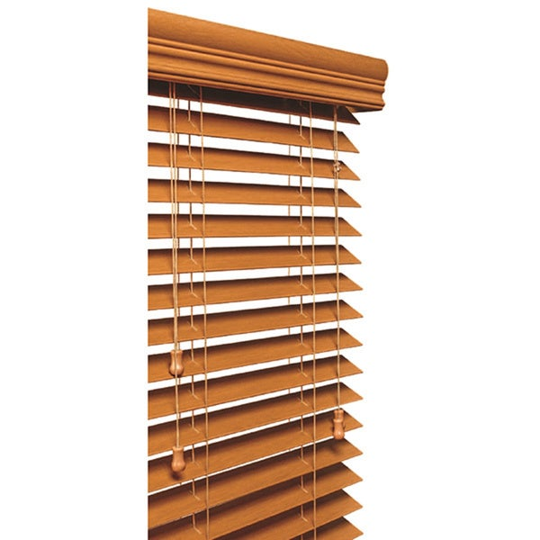 Golden Oak 2 Inch Faux Wood Grain Blind 11 To 72 Inches