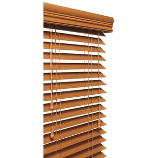 Golden Oak 2-inch Faux Wood Grain Blind 11 to 72-inch wide