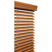 Golden Oak 2-inch Faux Wood Grain Blind (11 to 72 Inches Wide)