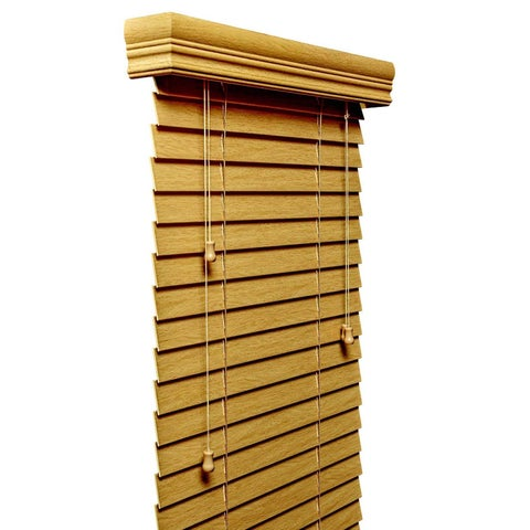 Natural 2-inch Faux Wood Blind 11 to 72-inch wide