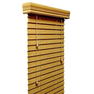 Natural Faux-wood 2-inch-wide Blinds