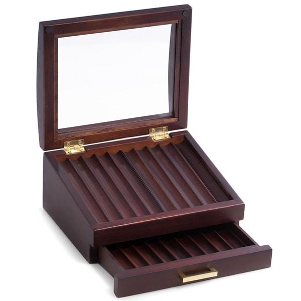 Walnut Wood 19-pen Box