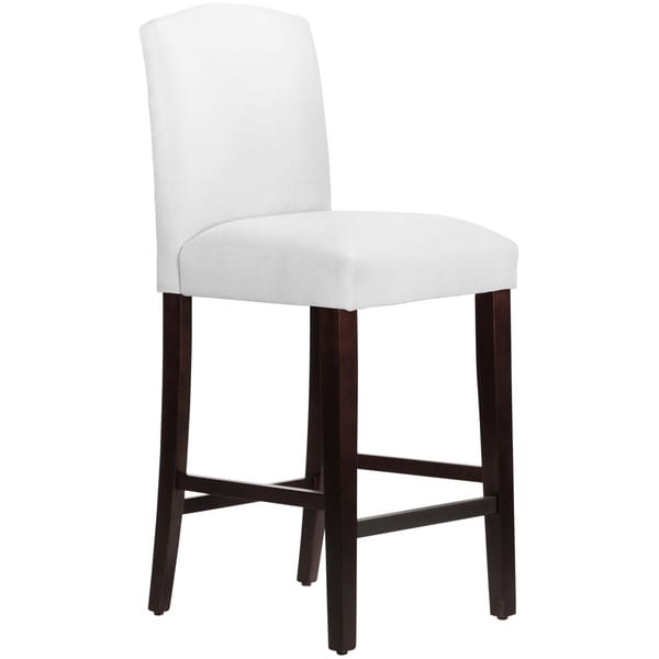 Skyline Furniture Velvet White Espresso Upholstered Arched