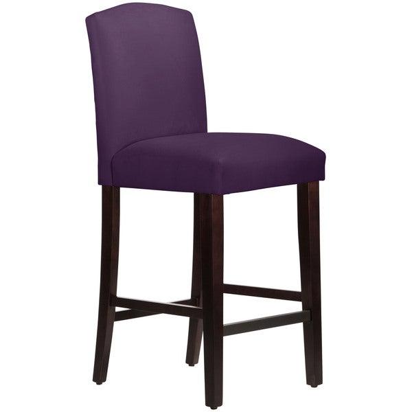 Skyline Furniture Purple Velvet Polyurethane Polyester Rubberwood Arched Barstool