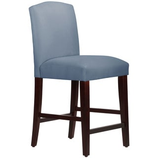 Skyline Furniture Espresso Finish Velvet Ocean Wood/Fabric Arched Counter Stool