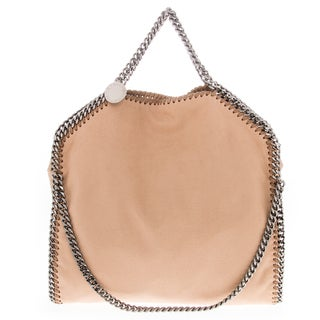 Stella McCartney Falabella Shaggy Deer Foldover Tan Tote
