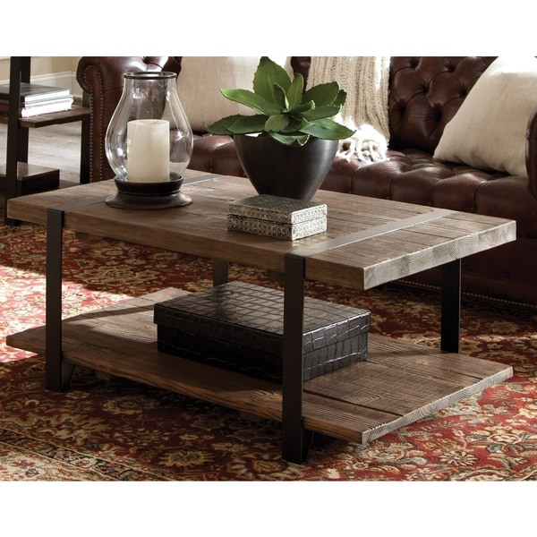 Modesto Natural Rustic Coffee Table Free Shipping Today