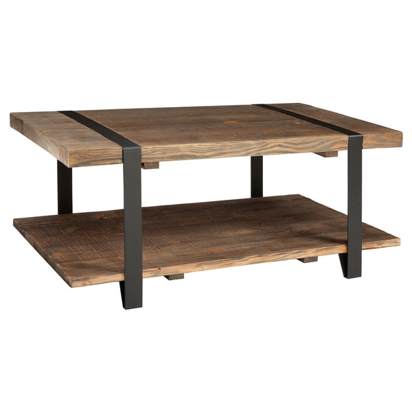 Modesto Natural Rustic Coffee Table   Free Shipping Today   Overstock.com    18825242