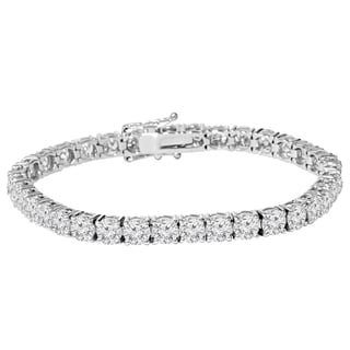 18k White Gold 8ct TDW Lab-Grown Eco Friendly Diamond 7-inch Tennis Bracelet (E-F, VS2-SI1)