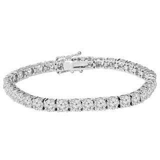 18k White Gold 8ct TDW Lab-Grown Eco Friendly Diamond 7-inch Tennis Bracelet