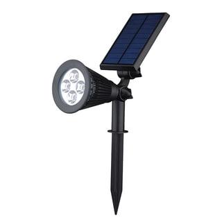 Gold Copper 200-lumen Solar-Powered LED Landscape Waterproof Outdoor Spotlight