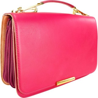 Emilio Pucci Commessa Pink Leather Shoulder Bag