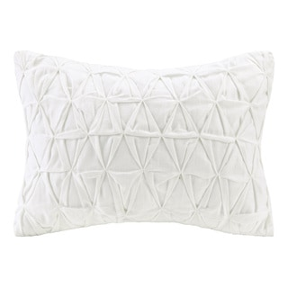 Echo Design Crete White Cotton Oblong Throw Pillow
