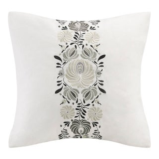 Echo Design Crete White Cotton Square Throw Pillow
