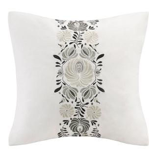 Echo Design Crete White Cotton Square Throw Pillow