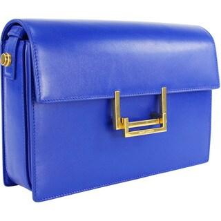 Saint Laurent Blue Calf Leather Women's Baguette Handbag