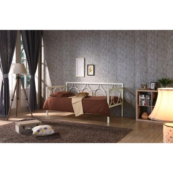Shop Hodedah Iron Circle Twin Day Bed Free Shipping