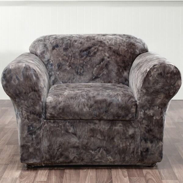 Sure Fit 2 Piece Stretch Plush Tye Dye Chair Cover Free