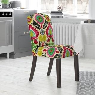 Skyline Furniture Camel Back Dining Chair in Santa Maria Desert Flower
