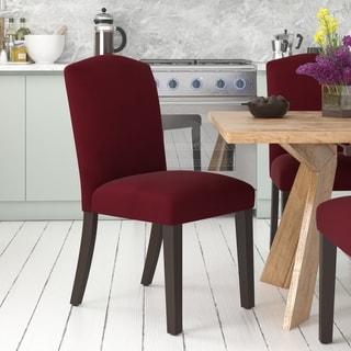 Skyline Furniture Velvet Berry Arched Dining Chair