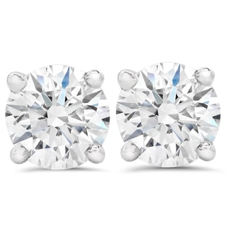 14k White Gold 1 1/2ct TDW Eco-Friendly Lab Grown Diamond Studs (F-G, SI1-SI2)