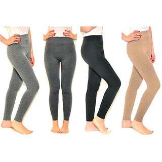Riviera French Polyester and Spandex Terry Leggings (Pack of 4)