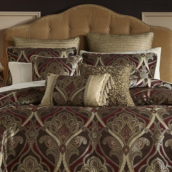 croscill bradney chenille jacquard woven damask 4 piece comforter set free shipping today