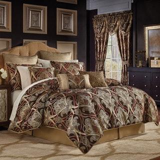 Croscill Bradney Chenille Jacquard Woven Damask 4 Piece Comforter Set